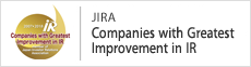 Japan Investor Relations Association (JIRA) Companies with Greatest Improvement in IR